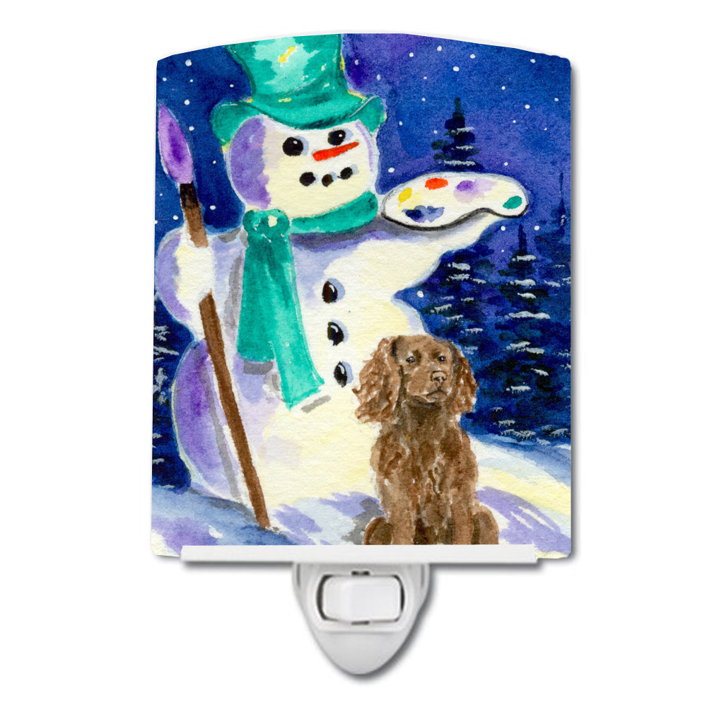 Buy this Artist Snowman with Boykin Spaniel Ceramic Night Light SS1001CNL