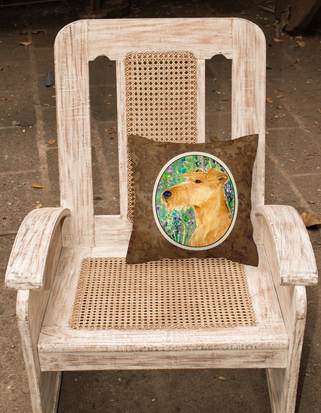Irish Terrier Decorative   Canvas Fabric Pillow by Caroline's Treasures