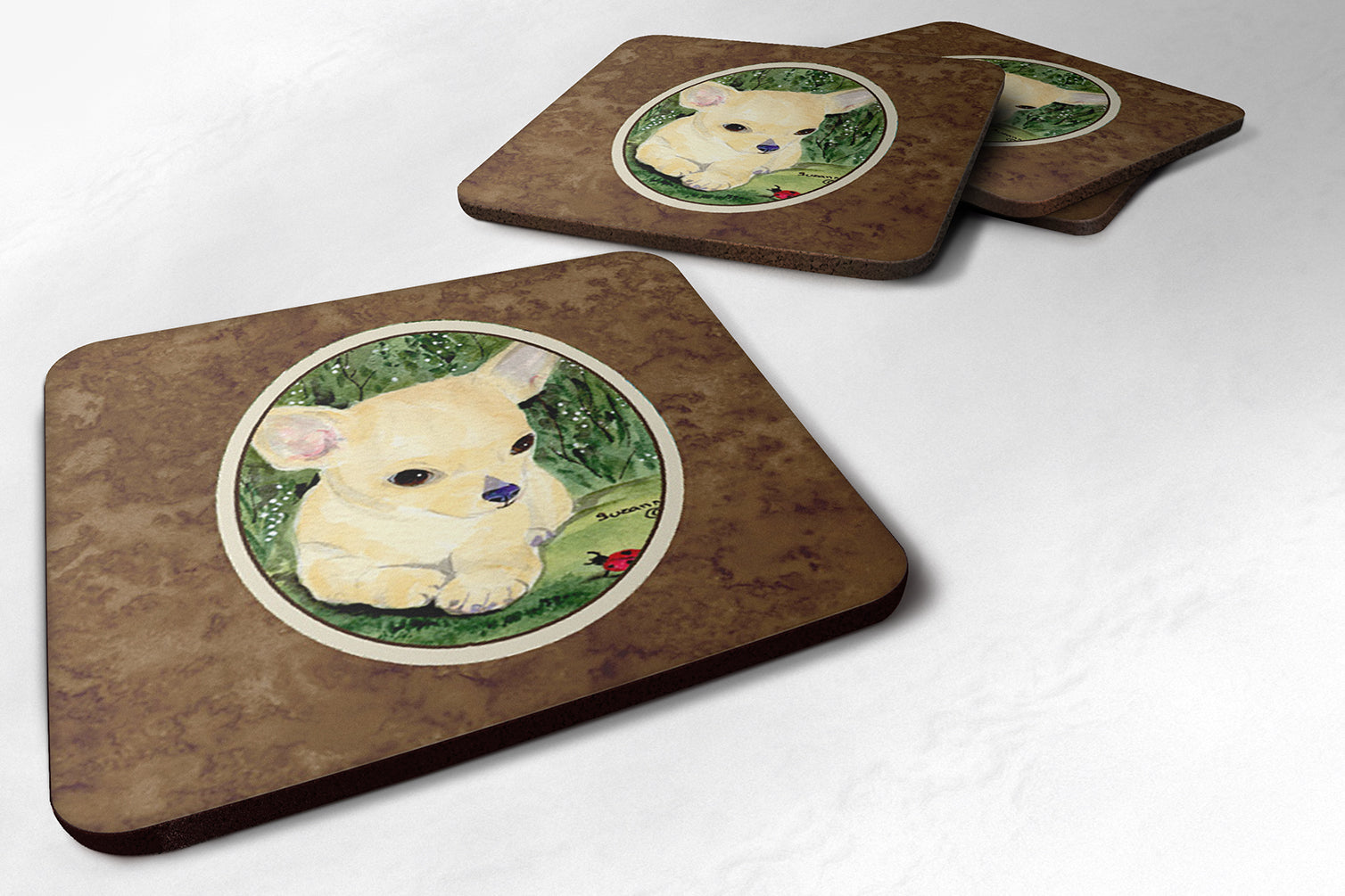 Set of 4 Chihuahua Foam Coasters by Caroline's Treasures