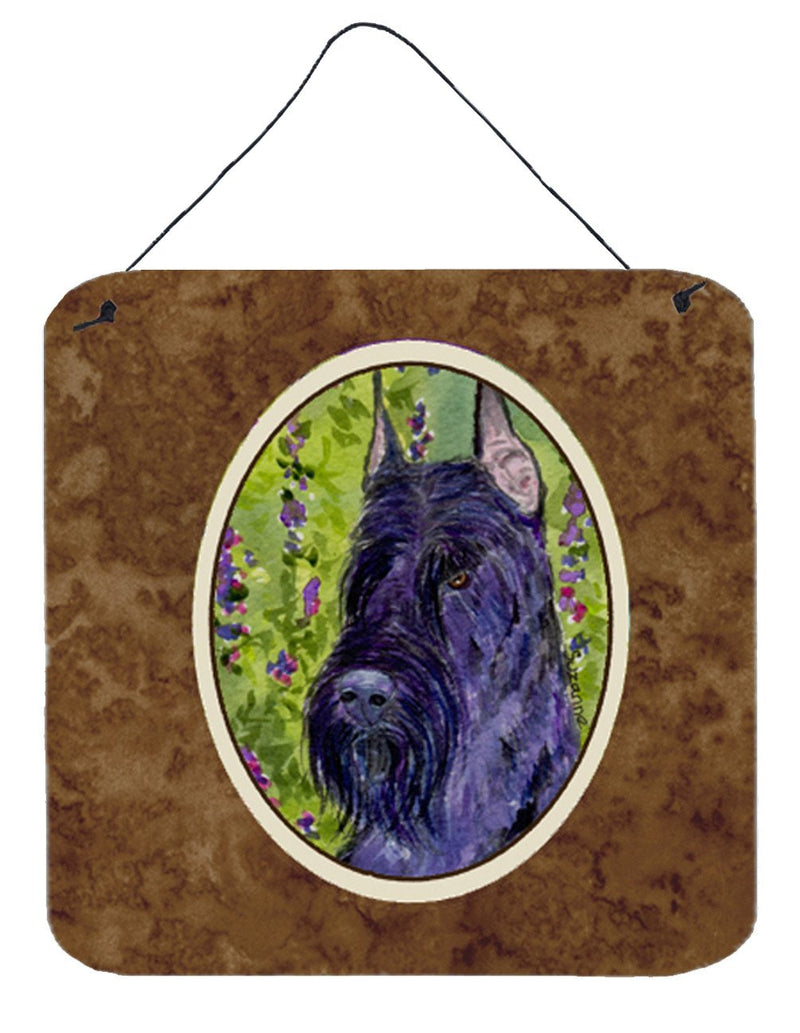 Buy this Scottish Terrier Aluminium Metal Wall or Door Hanging Prints