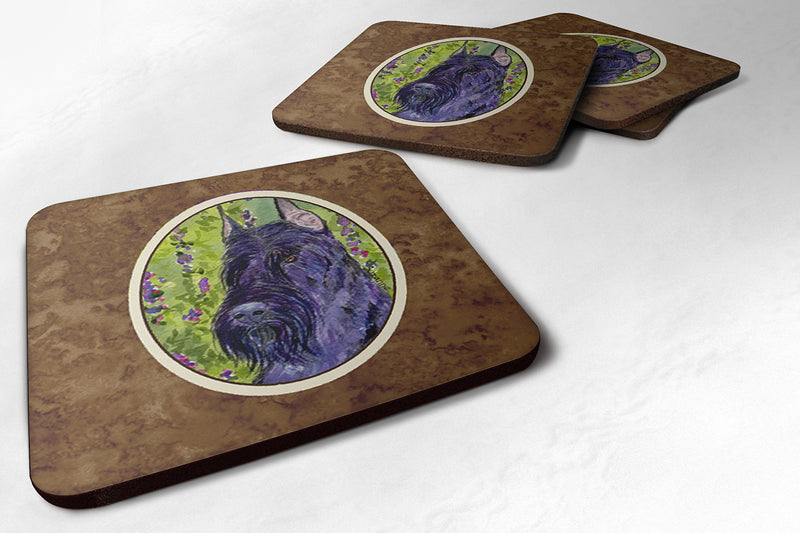 Buy this Set of 4 Scottish Terrier  Foam Coasters