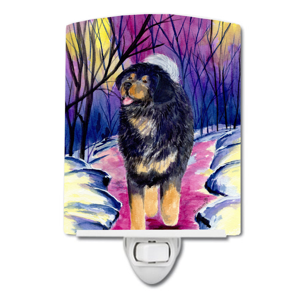 Tibetan Mastiff Ceramic Night Light SS1021CNL by Caroline's Treasures
