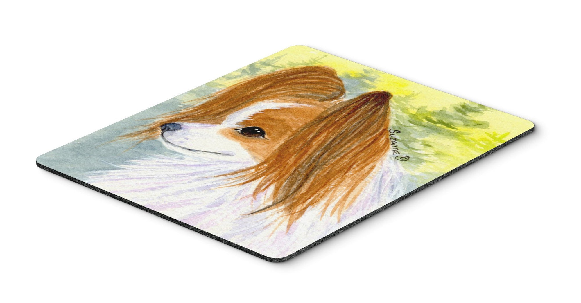Papillon Mouse Pad / Hot Pad / Trivet by Caroline's Treasures