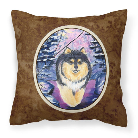 Buy this Finnish Lapphund Fabric Decorative Pillow SS1054PW1414