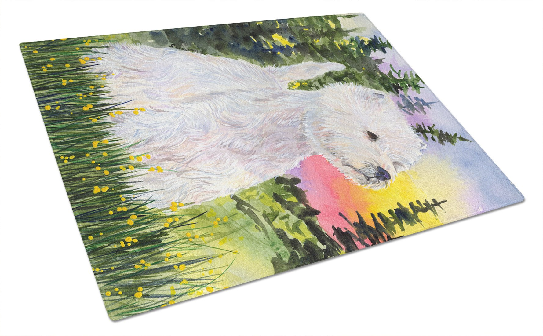 Buy this Westie Glass Cutting Board Large
