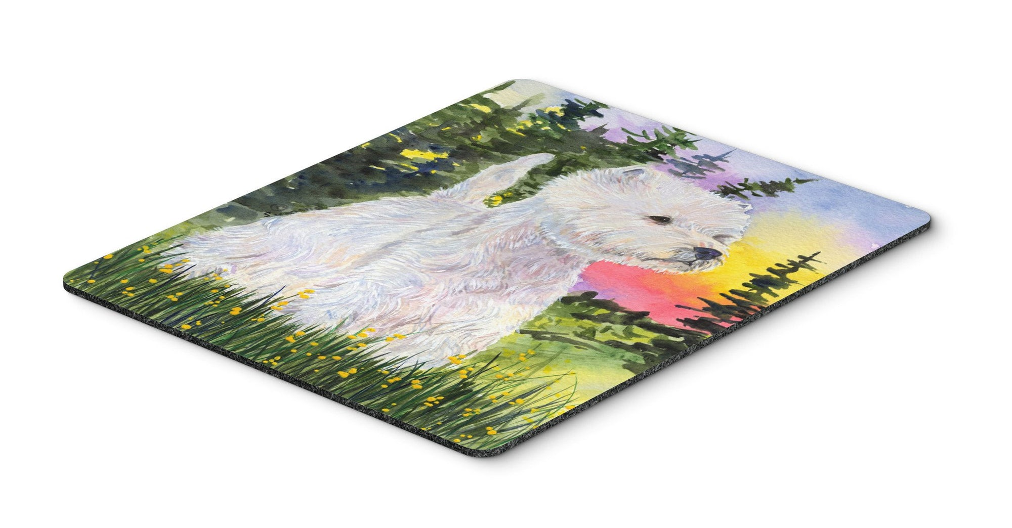 Westie Mouse Pad / Hot Pad / Trivet by Caroline's Treasures