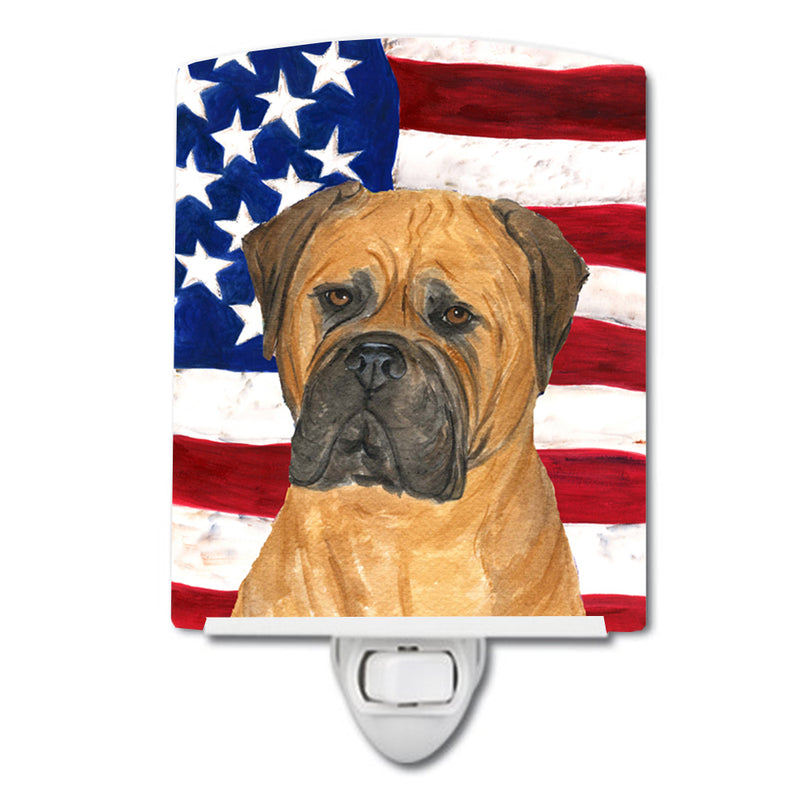 Buy this USA American Flag with Bullmastiff Ceramic Night Light SS4001CNL