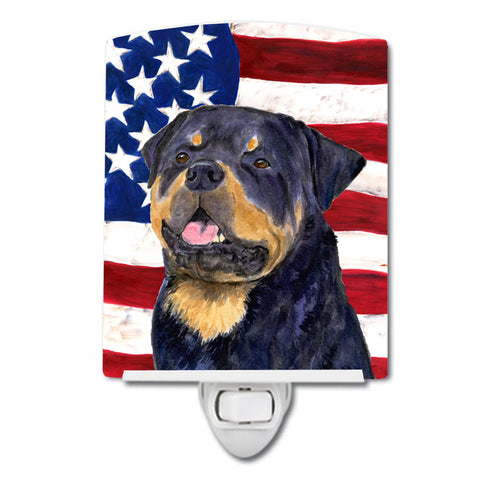 Buy this USA American Flag with Rottweiler Ceramic Night Light SS4009CNL