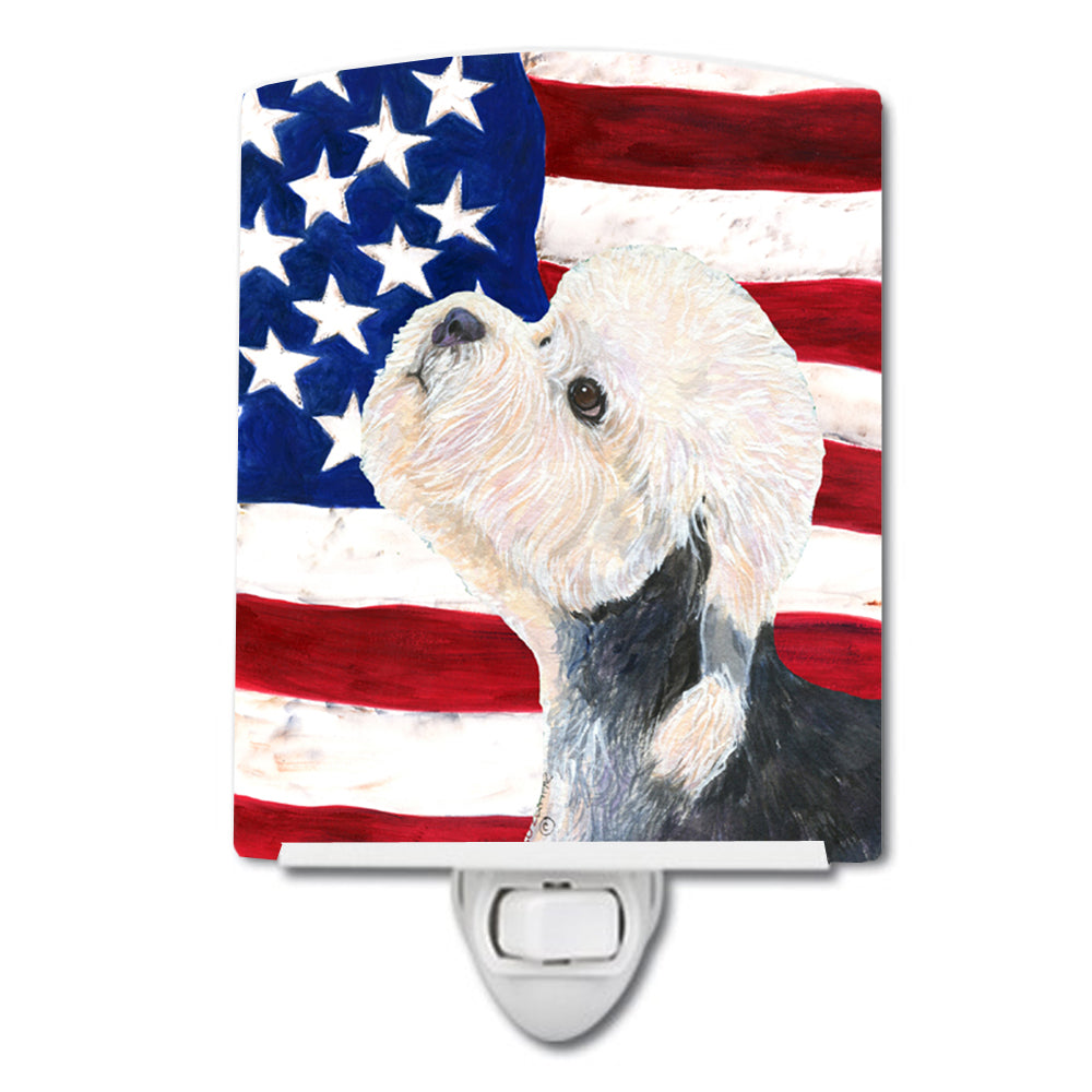Buy this USA American Flag with Dandie Dinmont Terrier Ceramic Night Light SS4030CNL