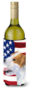 Buy this USA American Flag with Jack Russell Terrier Wine Bottle Beverage Insulator Beverage Insulator Hugger