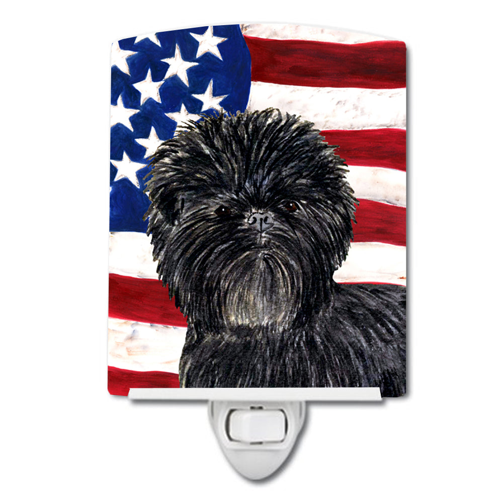 Buy this USA American Flag with Affenpinscher Ceramic Night Light SS4038CNL