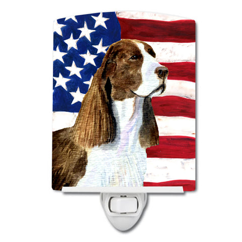 Buy this USA American Flag with Springer Spaniel Ceramic Night Light SS4040CNL