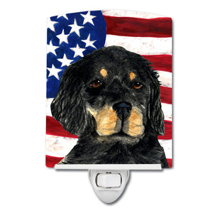 Buy this USA American Flag with Gordon Setter Ceramic Night Light SS4042CNL