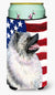 USA American Flag with Keeshond  Tall Boy Beverage Insulator Beverage Insulator Hugger by Caroline's Treasures
