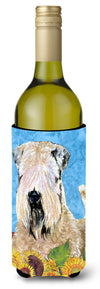 Buy this Wheaten Terrier Soft Coated in Summer Flowers Wine Bottle Beverage Insulator Beverage Insulator Hugger