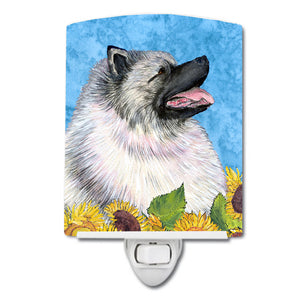 Buy this Keeshond in Summer Flowers Ceramic Night Light SS4122CNL