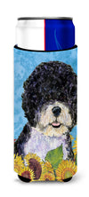 Portuguese Water Dog in Summer Flowers Ultra Beverage Insulators for slim cans SS4124MUK by Caroline's Treasures