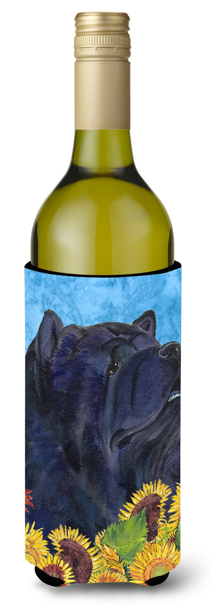 Chow Chow in Summer Flowers Wine Bottle Beverage Insulator Beverage Insulator Hugger by Caroline's Treasures