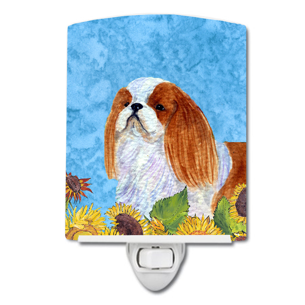 Buy this English Toy Spaniel in Summer Flowers Ceramic Night Light SS4140CNL