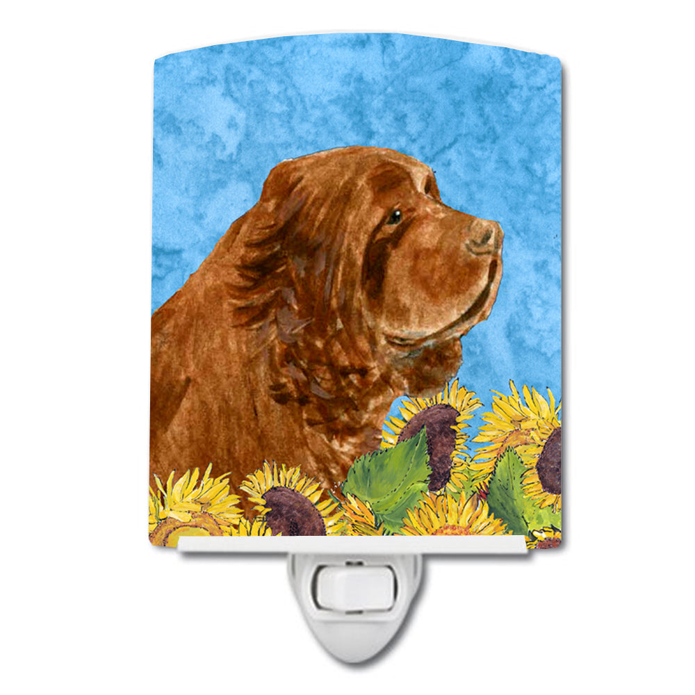 Sussex Spaniel in Summer Flowers Ceramic Night Light SS4143CNL by Caroline's Treasures