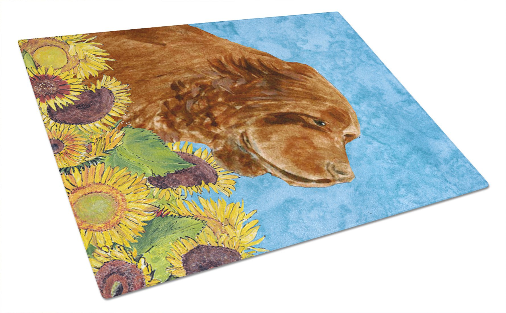 Sussex Spaniel Glass Cutting Board Large by Caroline's Treasures