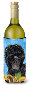Buy this Affenpinscher in Summer Flowers Wine Bottle Beverage Insulator Beverage Insulator Hugger