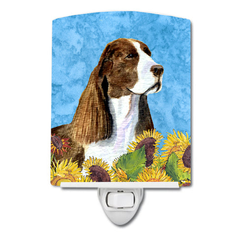 Buy this Springer Spaniel in Summer Flowers Ceramic Night Light SS4146CNL