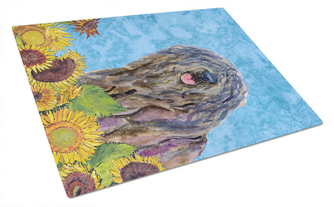 Buy this Bergamasco Sheepdog Glass Cutting Board Large