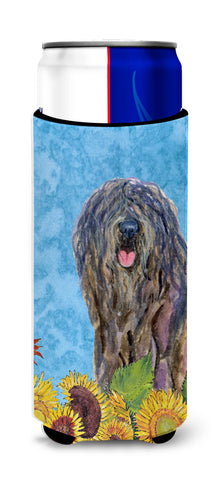 Buy this Bergamasco Sheepdog in Summer Flowers Ultra Beverage Insulators for slim cans SS4157MUK