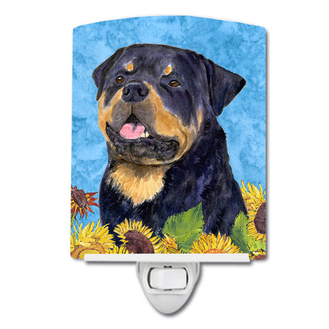 Buy this Rottweiler in Summer Flowers Ceramic Night Light SS4158CNL