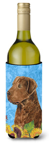 Buy this Curly Coated Retriever in Summer Flowers Wine Bottle Beverage Insulator Beverage Insulator Hugger