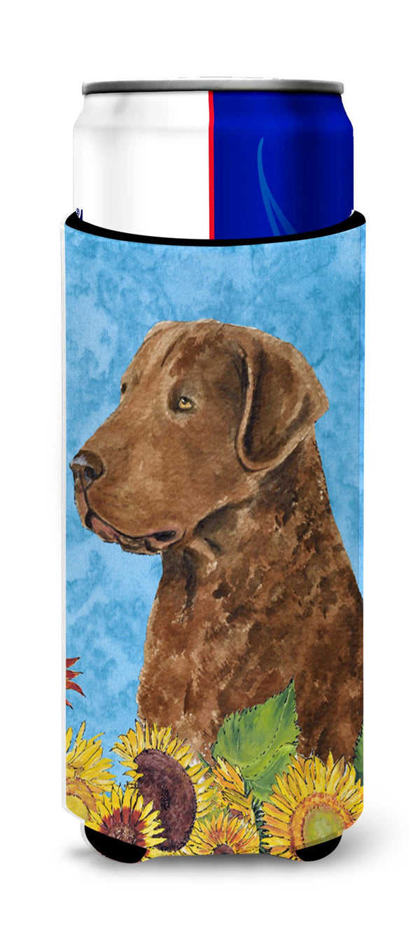 Curly Coated Retriever In Summer Flowers Ultra Beverage
