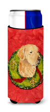 Golden Retriever Cristmas Wreath Ultra Beverage Insulators for slim cans SS4166MUK by Caroline's Treasures