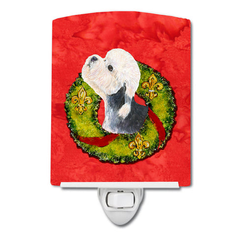 Buy this Dandie Dinmont Terrier Cristmas Wreath Ceramic Night Light SS4190CNL