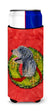 Irish Wolfhound Cristmas Wreath Ultra Beverage Insulators for slim cans SS4193MUK by Caroline's Treasures