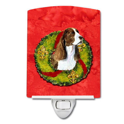 Buy this Springer Spaniel Cristmas Wreath Ceramic Night Light SS4200CNL
