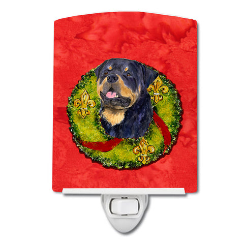 Buy this Rottweiler Cristmas Wreath Ceramic Night Light SS4211CNL