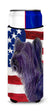 Buy this USA American Flag with Skye Terrier Ultra Beverage Insulators for slim cans SS4219MUK