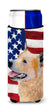 USA American Flag with Australian Cattle Dog Ultra Beverage Insulators for slim cans SS4251MUK by Caroline's Treasures
