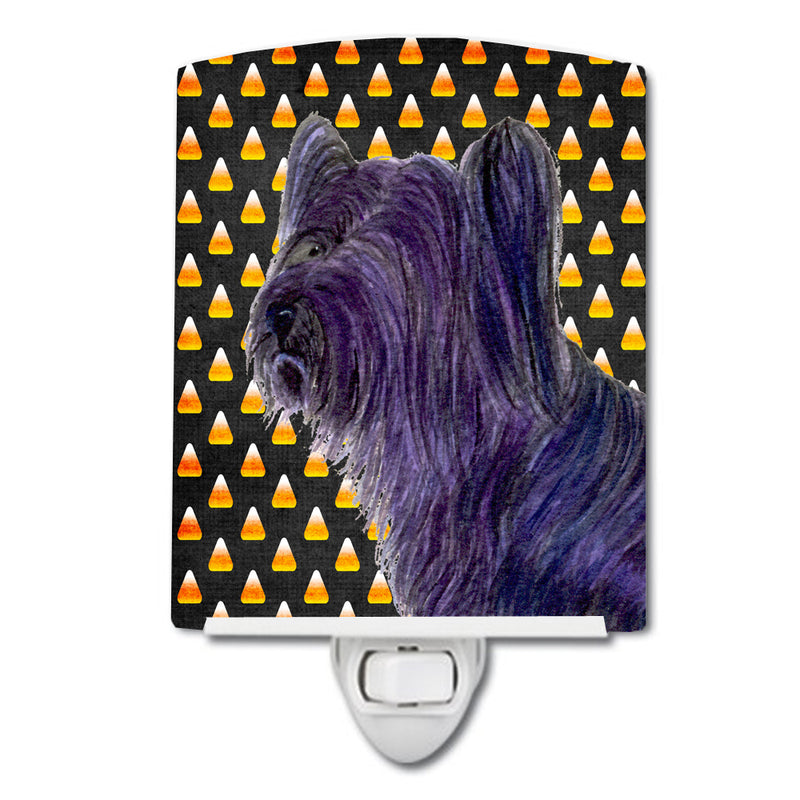 Buy this Skye Terrier Candy Corn Halloween Portrait Ceramic Night Light SS4256CNL