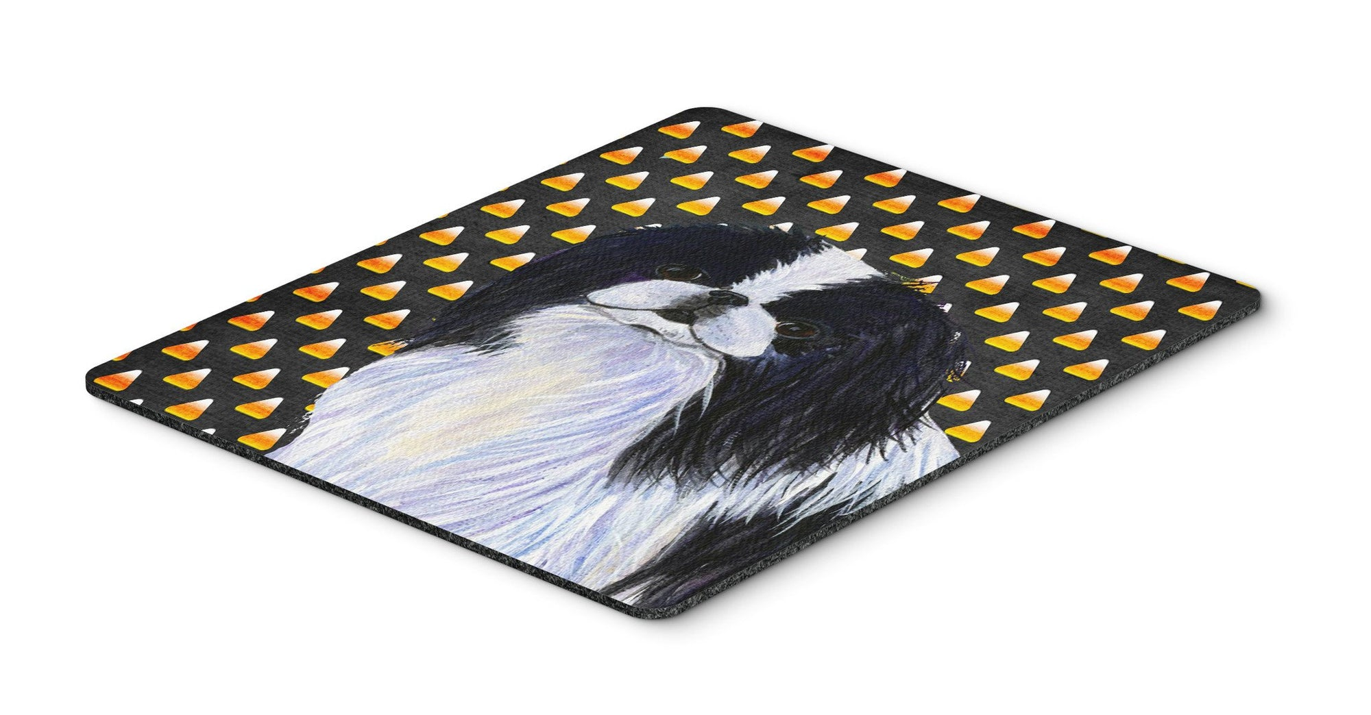 Japanese Chin Candy Corn Halloween Portrait Mouse Pad, Hot Pad or Trivet by Caroline's Treasures