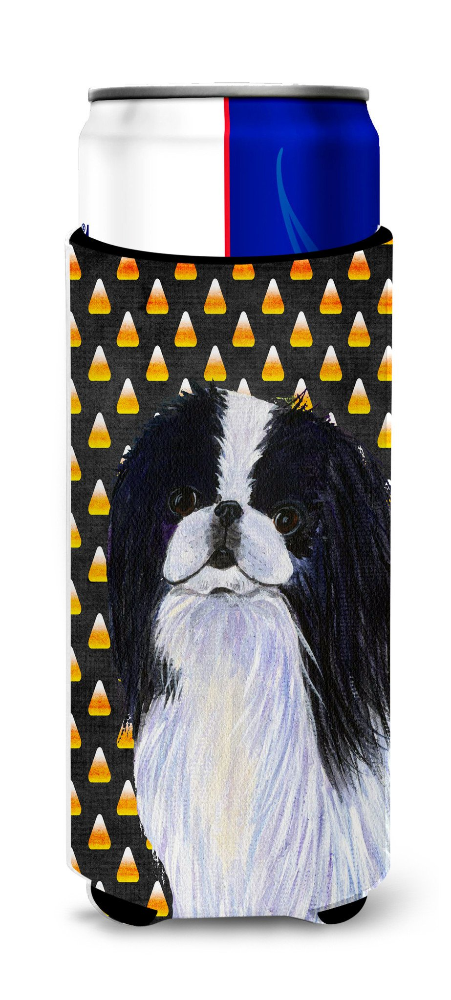 Japanese Chin Candy Corn Halloween Portrait Ultra Beverage Insulators for slim cans SS4260MUK by Caroline's Treasures