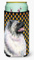 Keeshond Candy Corn Halloween Portrait  Tall Boy Beverage Insulator Beverage Insulator Hugger by Caroline's Treasures