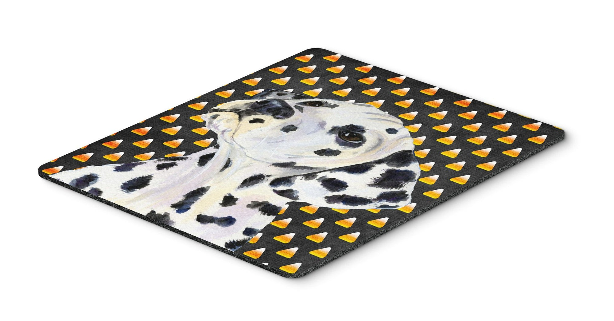Dalmatian Candy Corn Halloween Portrait Mouse Pad, Hot Pad or Trivet by Caroline's Treasures