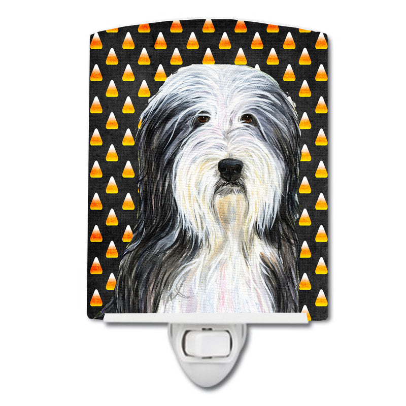 Buy this Bearded Collie Candy Corn Halloween Portrait Ceramic Night Light SS4290CNL