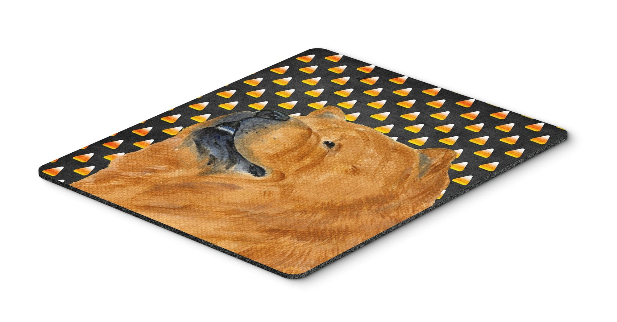 Chow Chow Candy Corn Halloween Portrait Mouse Pad, Hot Pad or Trivet by Caroline's Treasures