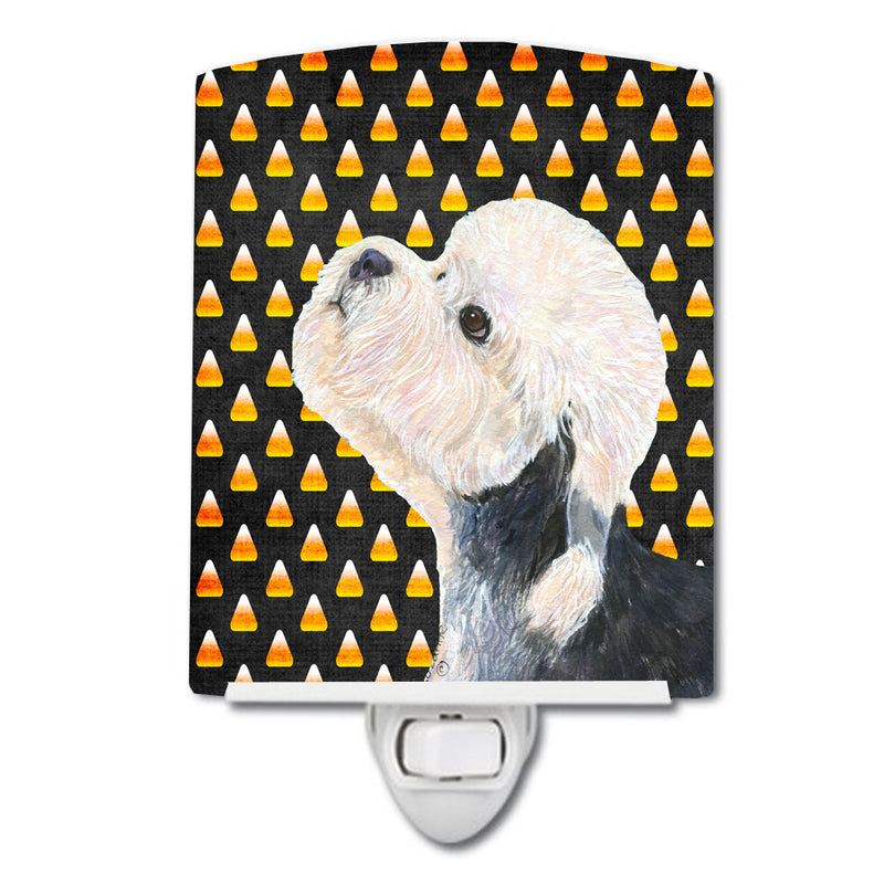 Buy this Dandie Dinmont Terrier Candy Corn Halloween Portrait Ceramic Night Light SS4296CNL