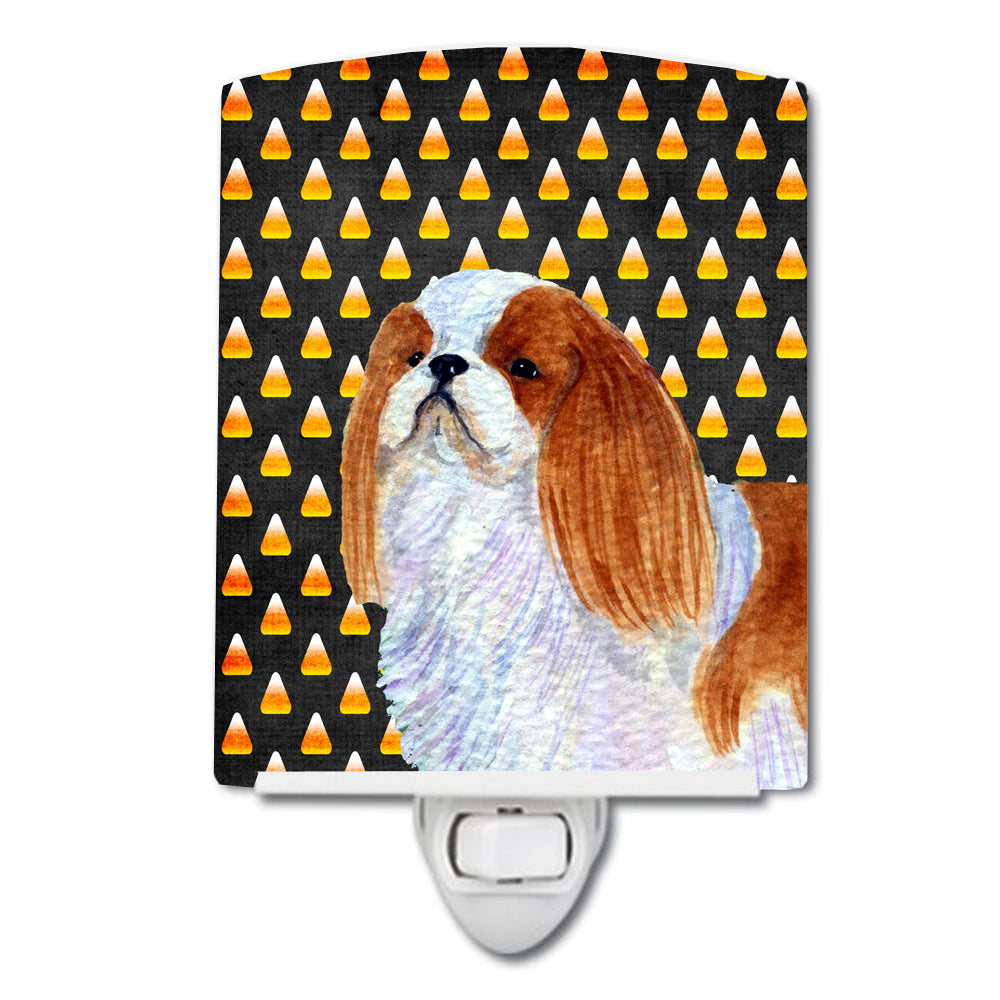 Buy this English Toy Spaniel Candy Corn Halloween Portrait Ceramic Night Light SS4300CNL