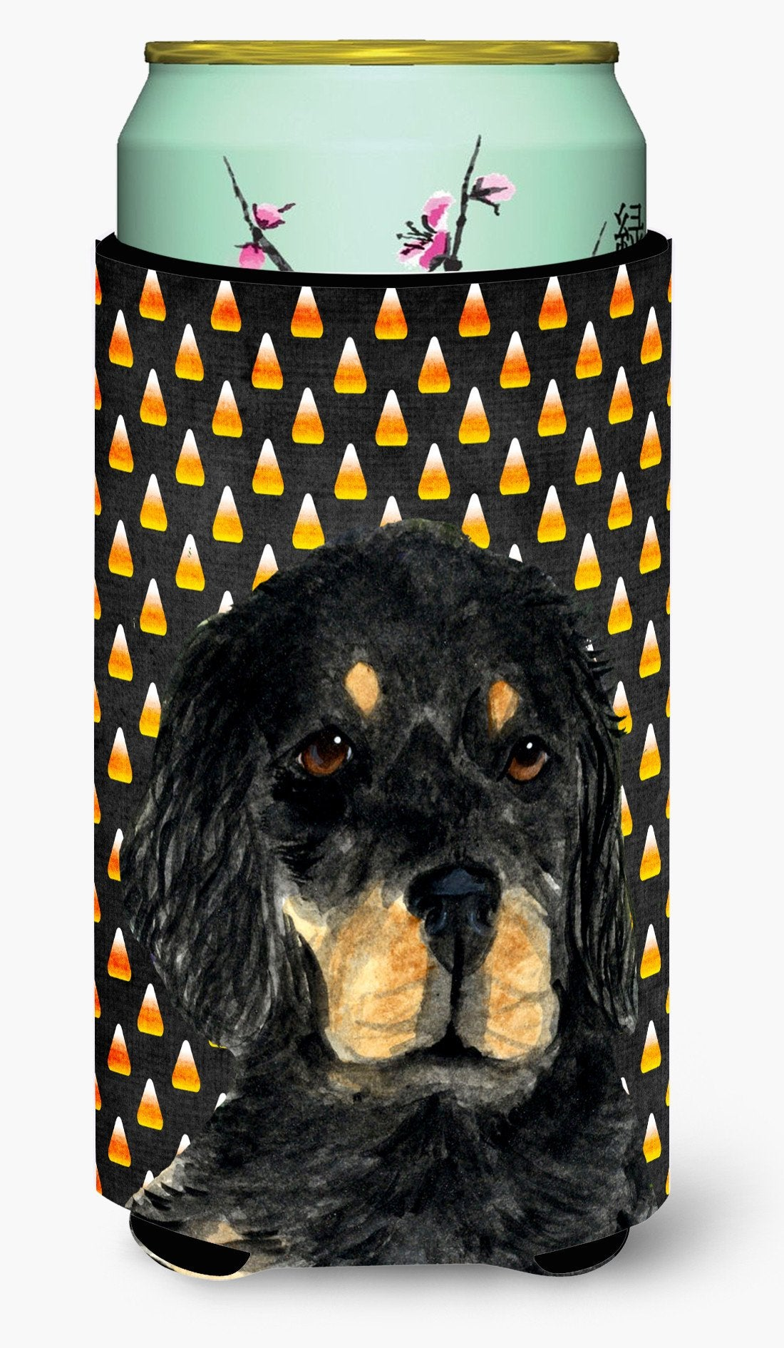 Gordon Setter Candy Corn Halloween Portrait  Tall Boy Beverage Insulator Beverage Insulator Hugger by Caroline's Treasures