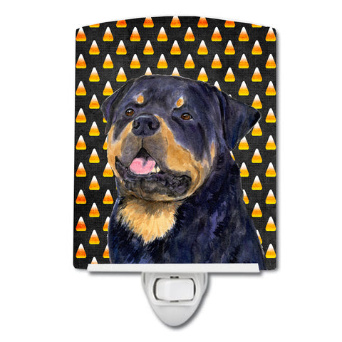 Buy this Rottweiler Candy Corn Halloween Portrait Ceramic Night Light SS4317CNL